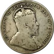9 piastres - Edward VII – avers