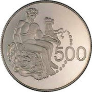 500 Mills (Hercules Coin - Silver proof issue) – revers
