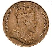 ½ piastre - Edward VII – avers