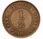 ½ piastre - Edward VII – revers