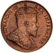 ¼ piastre - Edward VII – avers