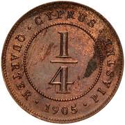 ¼ piastre - Edward VII – revers