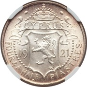 4½ piastres - George V – revers