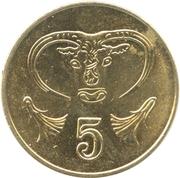 5 cents (type 2 armoiries) -  revers