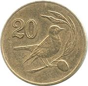 20 cents (numéro de valeur encadré) -  revers