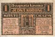 1 Krone (Stadt Teschen) – avers