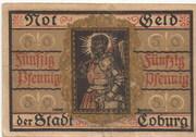 50 Pfennig (Coburg) – revers