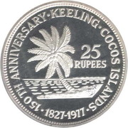 25 Rupees (John Clunies Ross) – revers