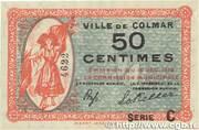 50 centimes - Ville de Colmar [68] – avers