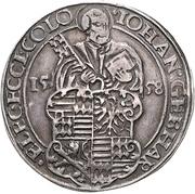 1 Thaler - Johann Gebhard von Mansfeld – avers