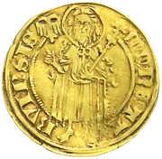 1 goldgulden Friedrich III de Saarwerden – avers
