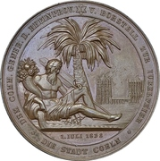 Medal - 25th anniversary of military sucess at Dennewitz of Prussian General Ludwig von Borstell (Cologne) – avers