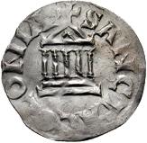 1 Pfennig - Piligrim, with Konrad as Emperor – revers