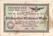 500,000,000 Mark (Cologne; Reichsbahndirektion) -  avers