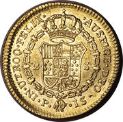 2 Escudos - Carlos III (Colonial Milled Coinage) -  revers