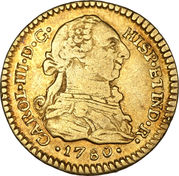 1 Escudo - Carlos III (Colonial Milled Coinage) – avers