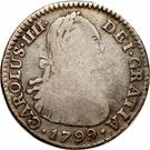 1 real Charles IV – avers