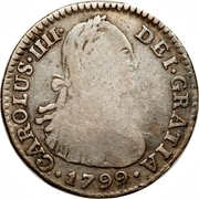 1 real Charles IV – avers