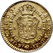 1 Escudo - Carlos III (Colonial Milled Coinage) – revers