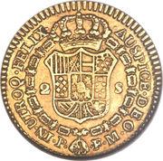 2 Escudos - Fernando VII -  avers