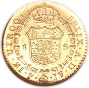 1 Escudo - Fernando VII – revers