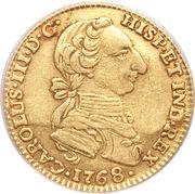 2 Escudos - Carlos III – avers