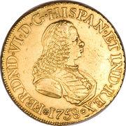 8 Escudos - Fernando VI – avers