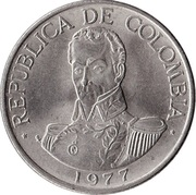 1 peso (Simon Bolivar) -  avers