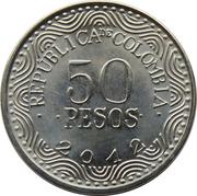 50 Pesos (Ours à lunettes) -  avers