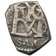 ½ Real - Felipe III, Felipe IV, Carlos II, Felipe V, Luis I or Fernando VI – avers