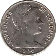V centavos -  avers