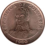 2 pesos (Simon Bolivar) -  avers