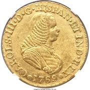 4 Escudos - Carlos III (portrait de Fernando VI) – avers