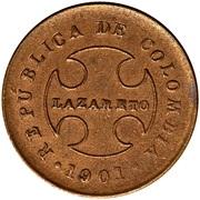 20 centavos (monnaie de léproserie) – revers