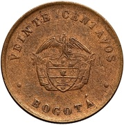 20 centavos (monnaie de léproserie) – avers