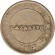 1 peso (monnaie de léproserie) – avers