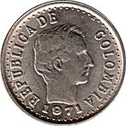 20 centavos (légende divisée à l'avant de la tête) -  avers