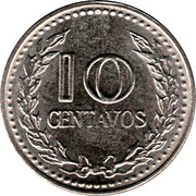 10 centavos (légende continue - petites lettres) -  revers