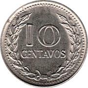 10 centavos (légende divisée) -  revers