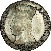 ½ Real (United Provinces of Nueva Granada) – avers