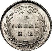 1 real (Monnaie provinciale) – revers