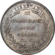 8 Colombian Reales – revers