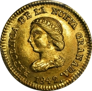 Peso - Nueva Grenada - Bogata – avers