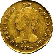 4 Escudos (Republic of Colombia) – avers
