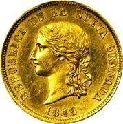 16 Pesos (Republic of Nueva Granada) – avers