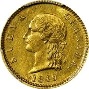 2 Pesos (Republic of Nueva Granada) – avers