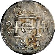 2 Reales - Fernando VII (Santa Marta) – avers