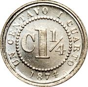 1¼ centavo – revers