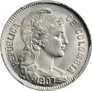 2 pesos (monnaie d'inflation) – avers