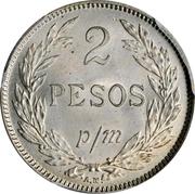 2 pesos (monnaie d'inflation) – revers